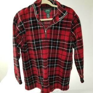 Lauren Ralph Lauren Red & Black Plaid pullover S